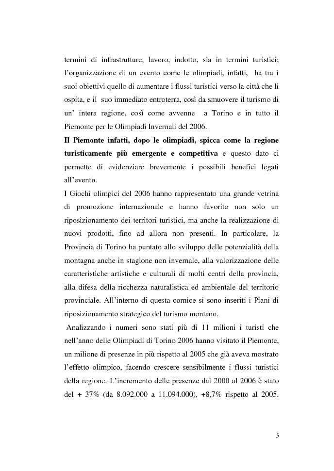 Anteprima della tesi: Gli eventi e i flussi turistici: il progetto Venezia 2020, Pagina 3