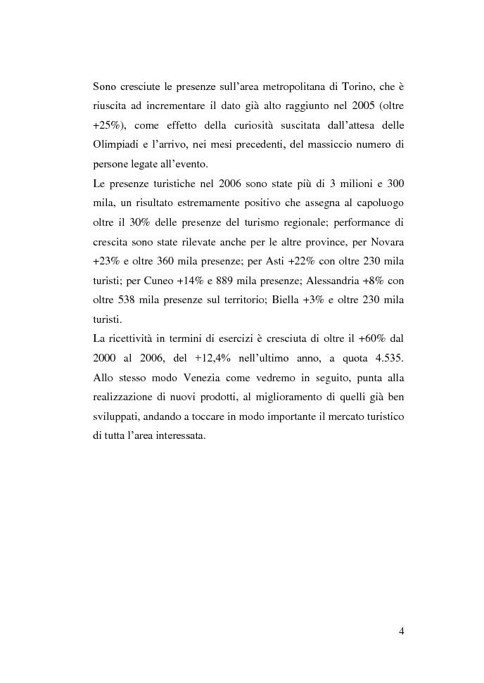 Anteprima della tesi: Gli eventi e i flussi turistici: il progetto Venezia 2020, Pagina 4