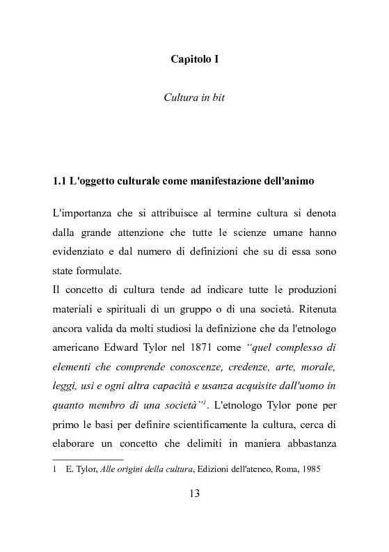 Il caso ?Europeana?. I nuovi contesti digitali per la valorizzazione del patrimonio culturale. - Tesi di Laurea