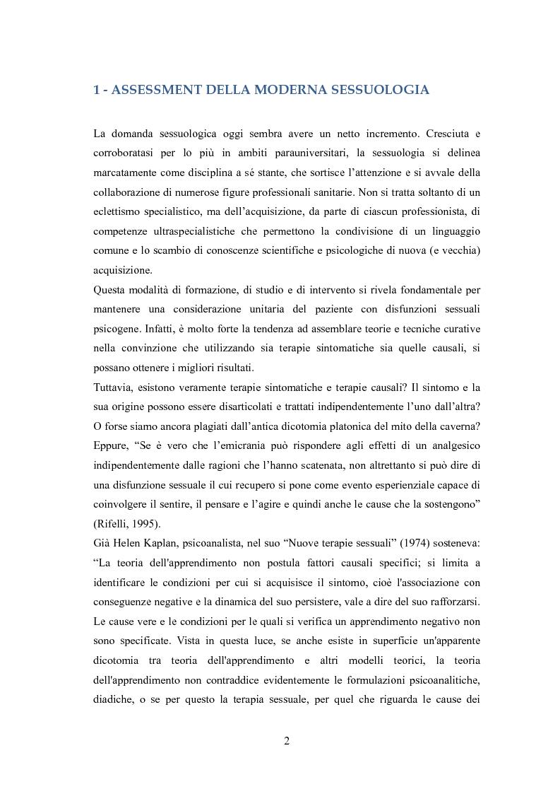 Anteprima della tesi: Disfunzione erettile psicogena, Pagina 1