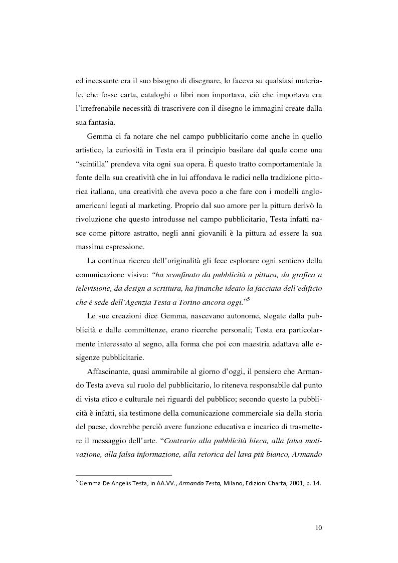 Anteprima della tesi: L'opera Armando Testa: apogeo e declino di un linguaggio, Pagina 7
