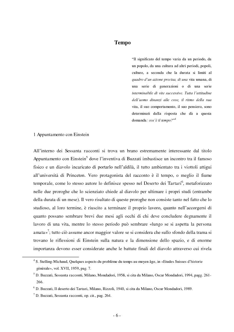 Anteprima della tesi: Tempo e spazio nei romanzi di Dino Buzzati, Pagina 4