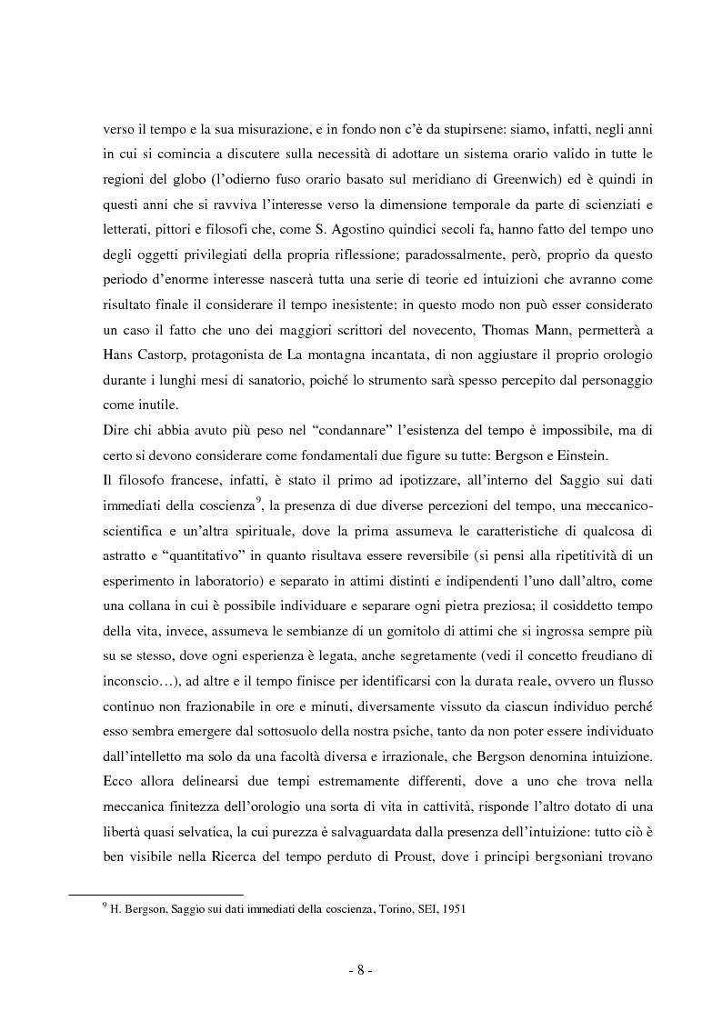 Anteprima della tesi: Tempo e spazio nei romanzi di Dino Buzzati, Pagina 6