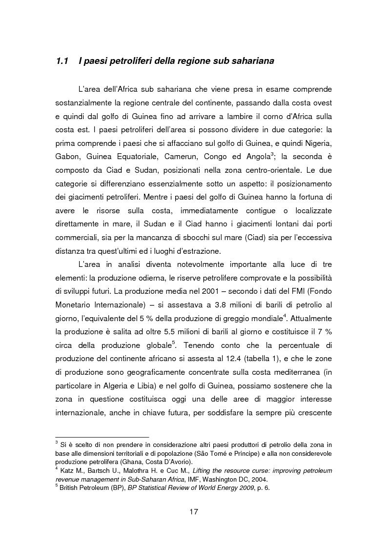Anteprima della tesi: I paesi petroliferi dell'Africa sub sahariana, Pagina 10
