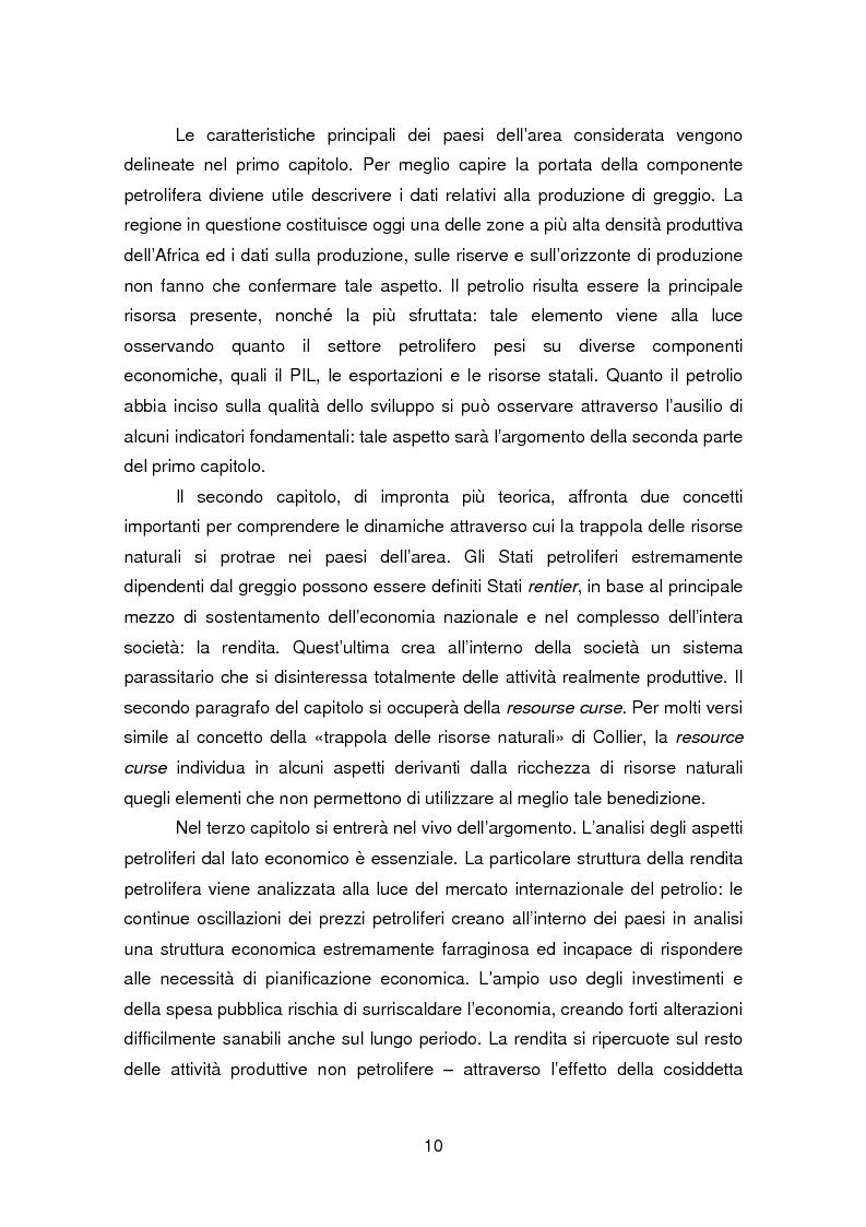 Anteprima della tesi: I paesi petroliferi dell'Africa sub sahariana, Pagina 4