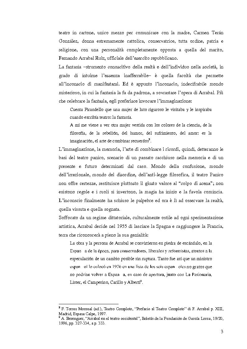 Anteprima della tesi: Fernando Arrabal y su ''Pánico'', Pagina 2