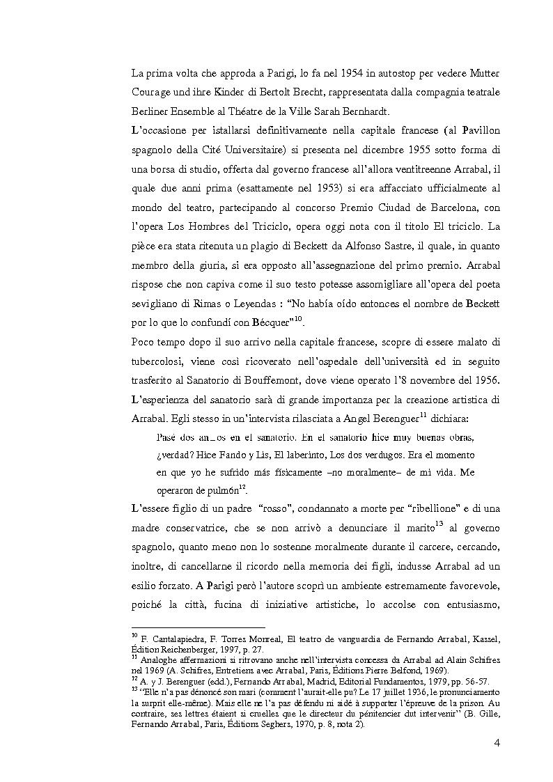 Anteprima della tesi: Fernando Arrabal y su ''Pánico'', Pagina 3