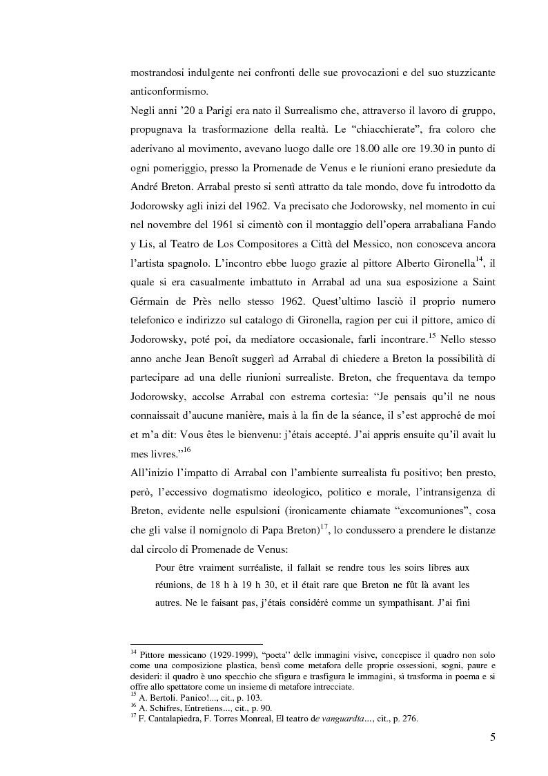 Anteprima della tesi: Fernando Arrabal y su ''Pánico'', Pagina 4