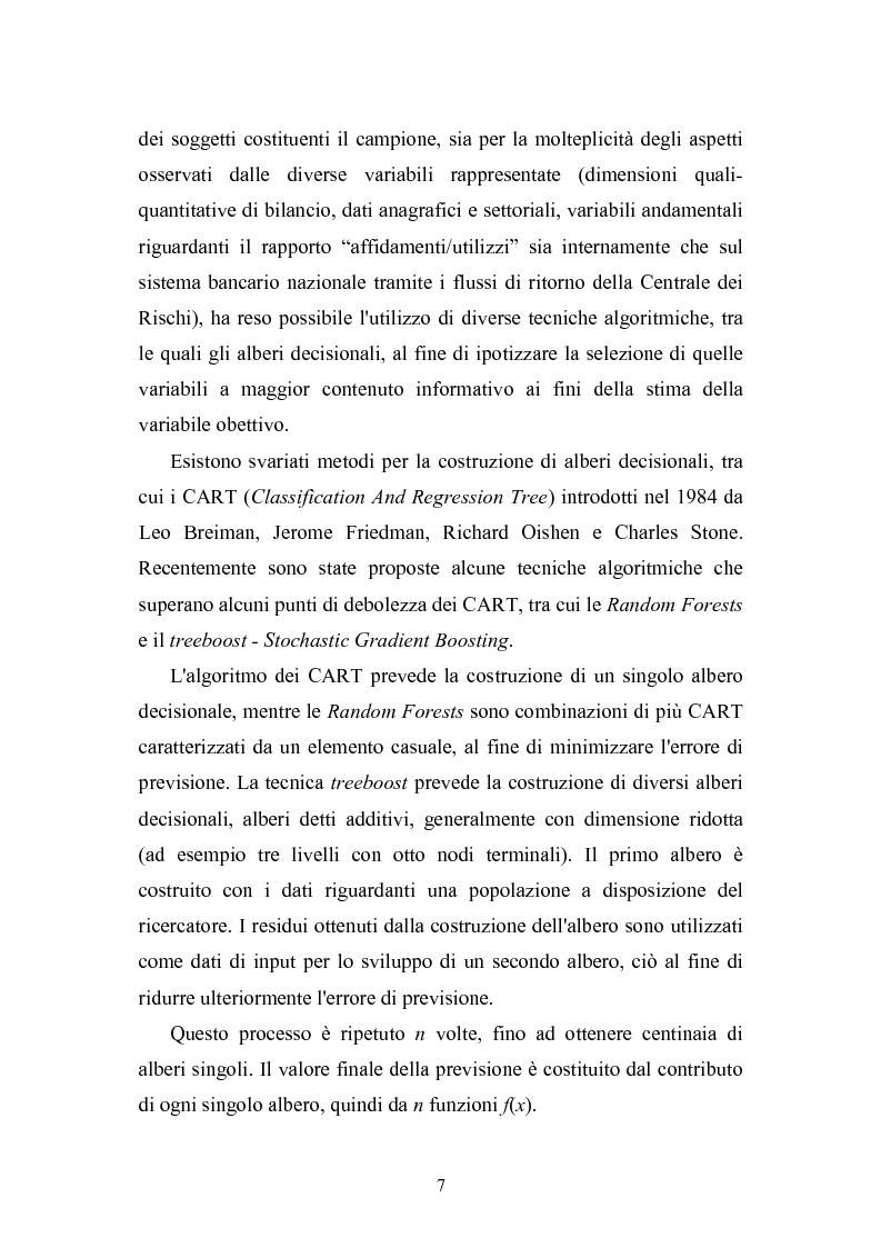 Anteprima della tesi: Tecniche statistiche algoritmiche per il monitoraggio del rischio di credito e l'individuazione dei fattori di rischio di default aziendale, Pagina 2