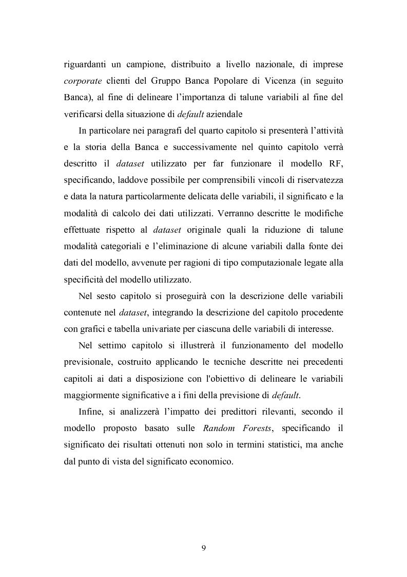 Anteprima della tesi: Tecniche statistiche algoritmiche per il monitoraggio del rischio di credito e l'individuazione dei fattori di rischio di default aziendale, Pagina 4