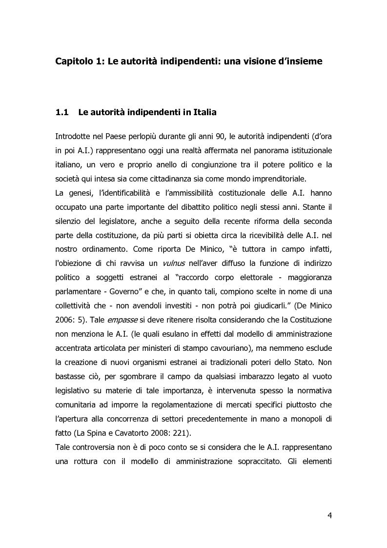 Anteprima della tesi: Garanzia, vigilanza e controllo: il ruolo dell'AGCOM nel mercato delle telecomunicazioni mobili italiane, Pagina 1