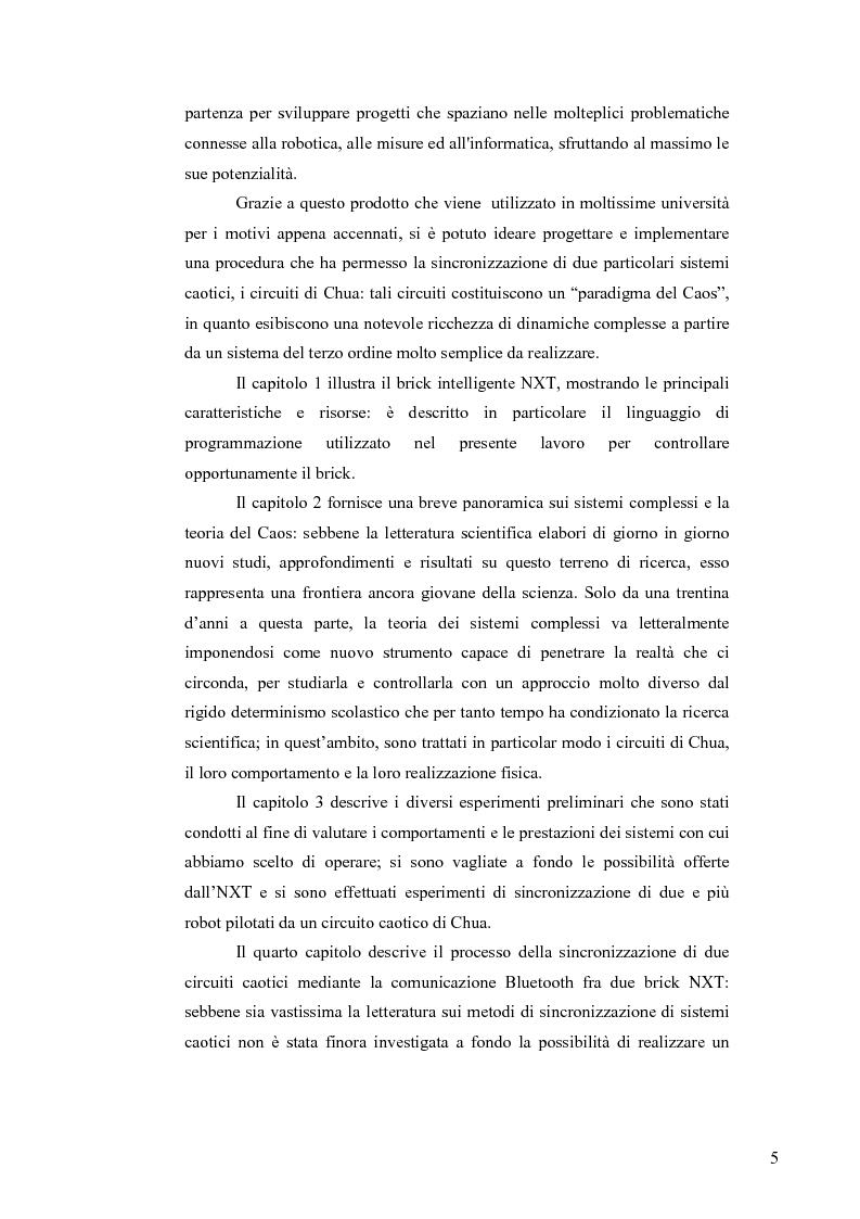 Anteprima della tesi: Sincronizzazione wireless di circuiti caotici mediante tecnologia Bluetooth su robot Mindstorms, Pagina 2