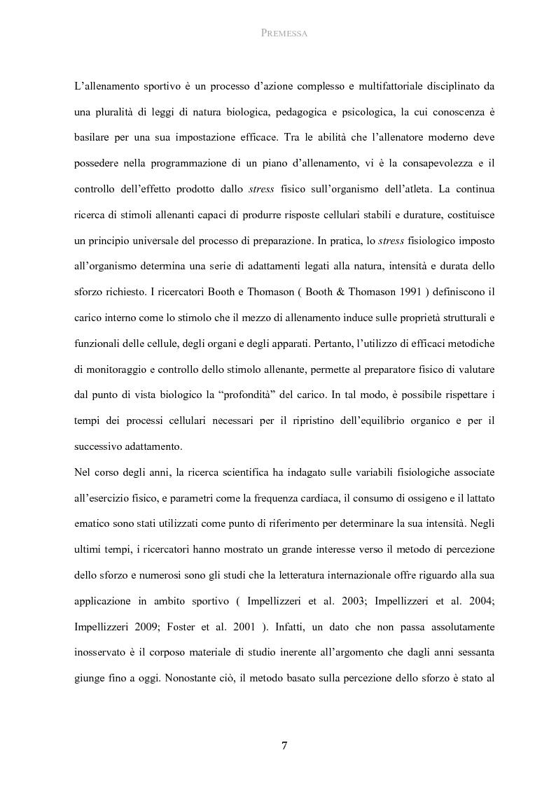 Anteprima della tesi: Protocollo di utilizzo del Category Rating 10 nella gestione del carico allenante in giovani calciatori, Pagina 2