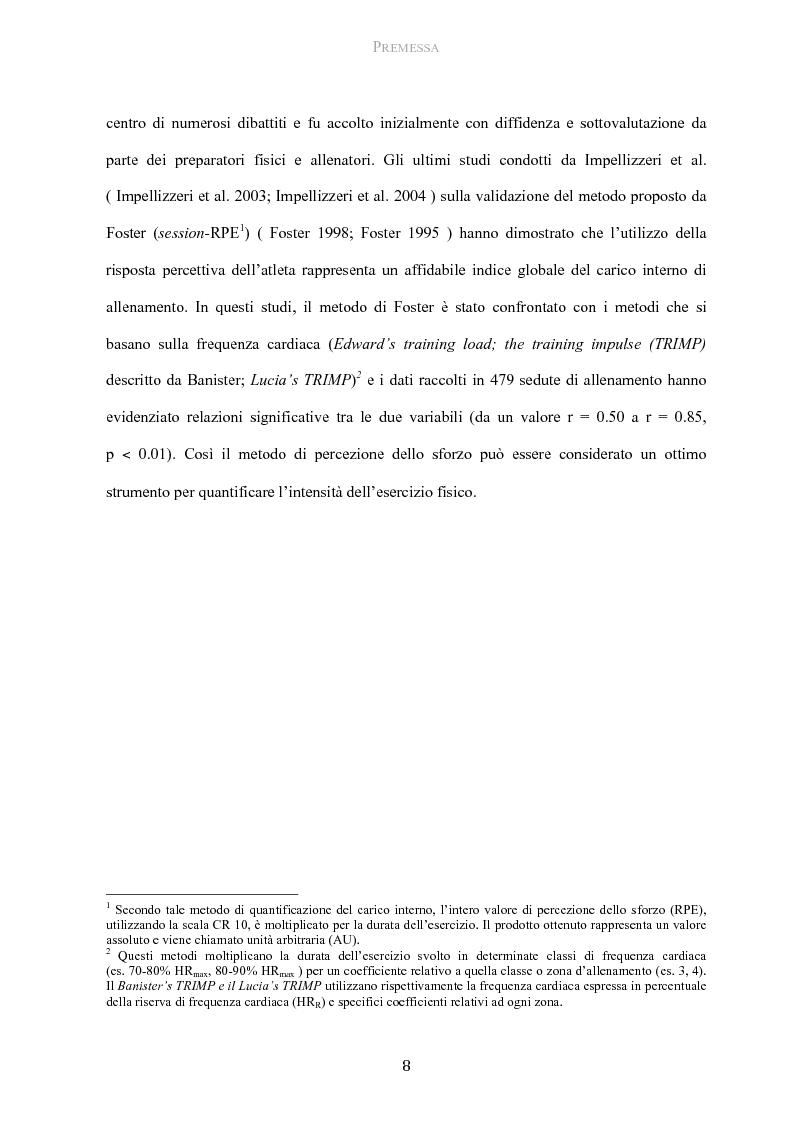 Anteprima della tesi: Protocollo di utilizzo del Category Rating 10 nella gestione del carico allenante in giovani calciatori, Pagina 3