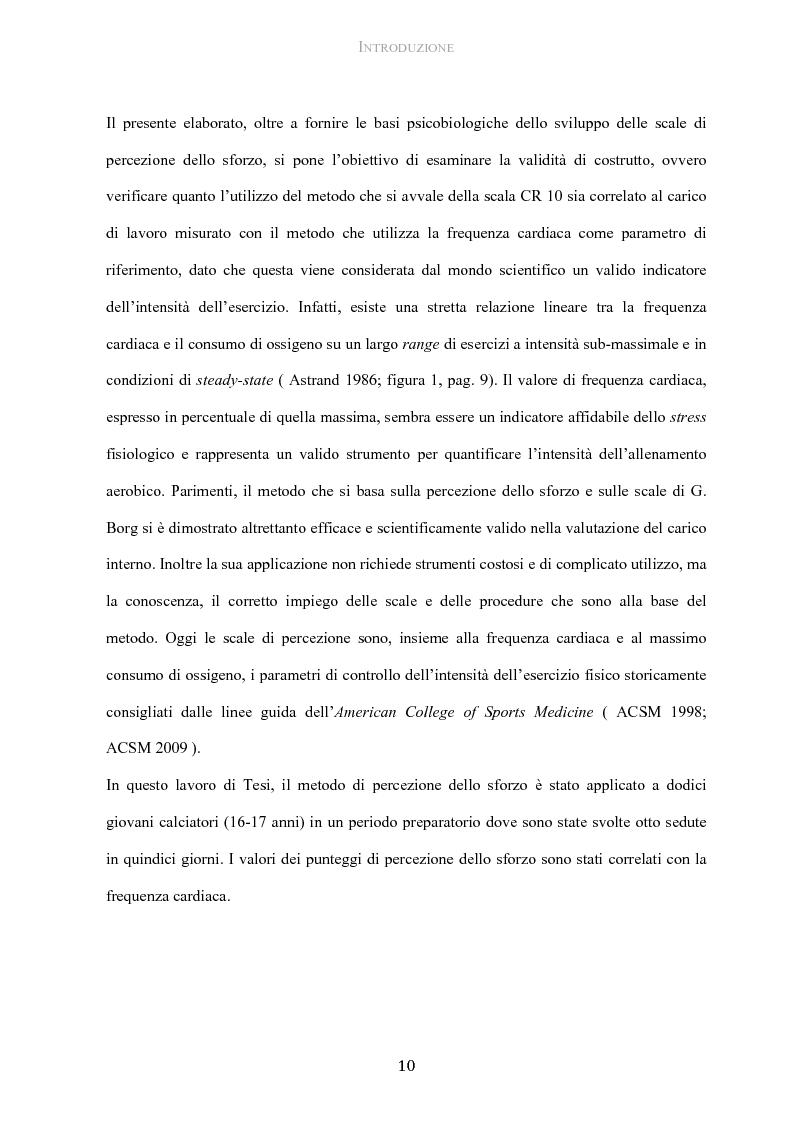 Anteprima della tesi: Protocollo di utilizzo del Category Rating 10 nella gestione del carico allenante in giovani calciatori, Pagina 5