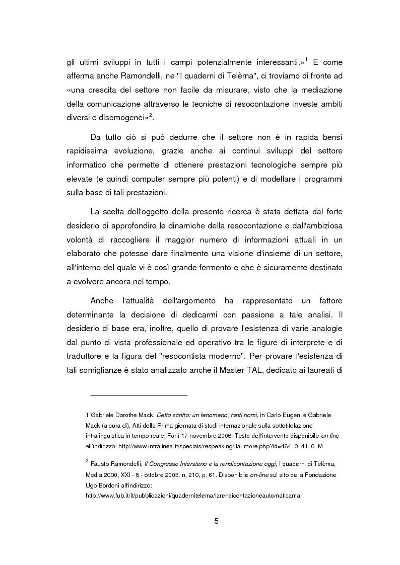 Anteprima della tesi: Nuovi orizzonti e nuove frontiere per l'interprete e il traduttore nel trattamento automatico del linguaggio - La figura del resocontista, Pagina 2