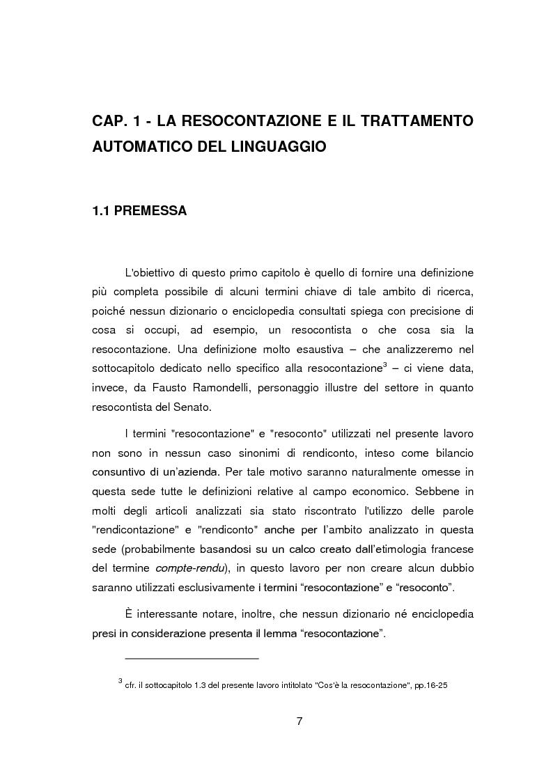 Anteprima della tesi: Nuovi orizzonti e nuove frontiere per l'interprete e il traduttore nel trattamento automatico del linguaggio - La figura del resocontista, Pagina 4
