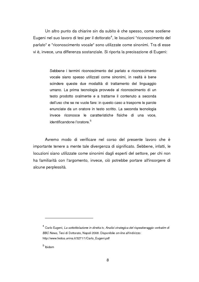Anteprima della tesi: Nuovi orizzonti e nuove frontiere per l'interprete e il traduttore nel trattamento automatico del linguaggio - La figura del resocontista, Pagina 5