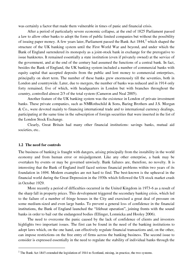 Anteprima della tesi: The UK banking system: structure, regulation and effects of the 2007-09 financial crisis, Pagina 2