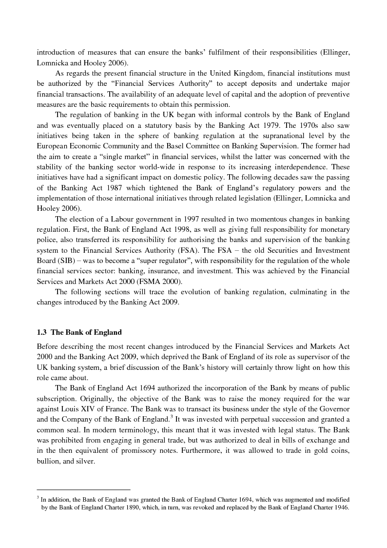 Anteprima della tesi: The UK banking system: structure, regulation and effects of the 2007-09 financial crisis, Pagina 3