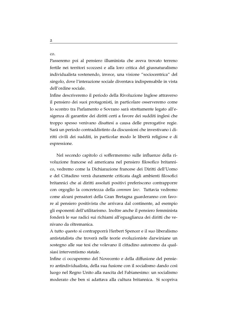 Anteprima della tesi: Storia ed evoluzione dei diritti fondamentali in Gran Bretagna: dal suddito inglese al cittadino europeo, Pagina 2
