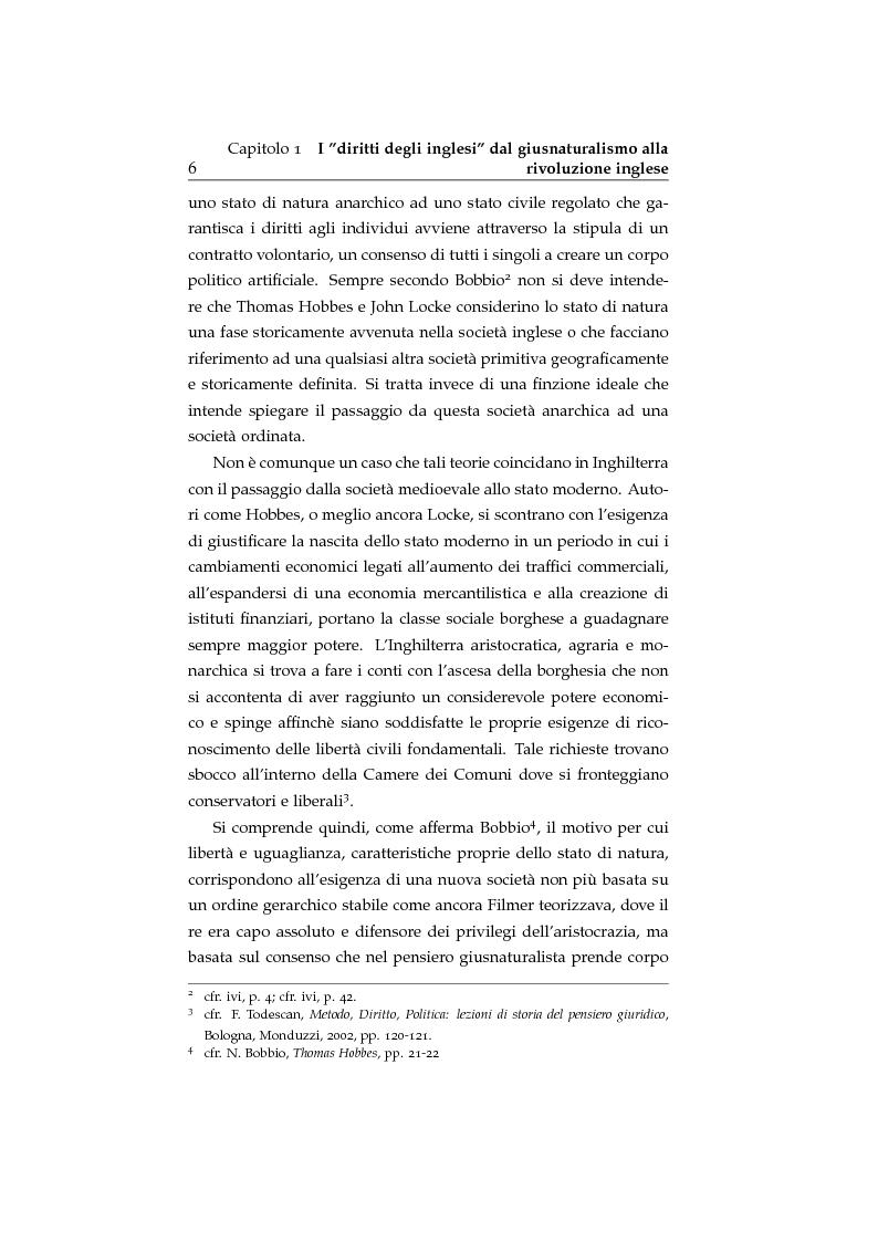 Anteprima della tesi: Storia ed evoluzione dei diritti fondamentali in Gran Bretagna: dal suddito inglese al cittadino europeo, Pagina 6