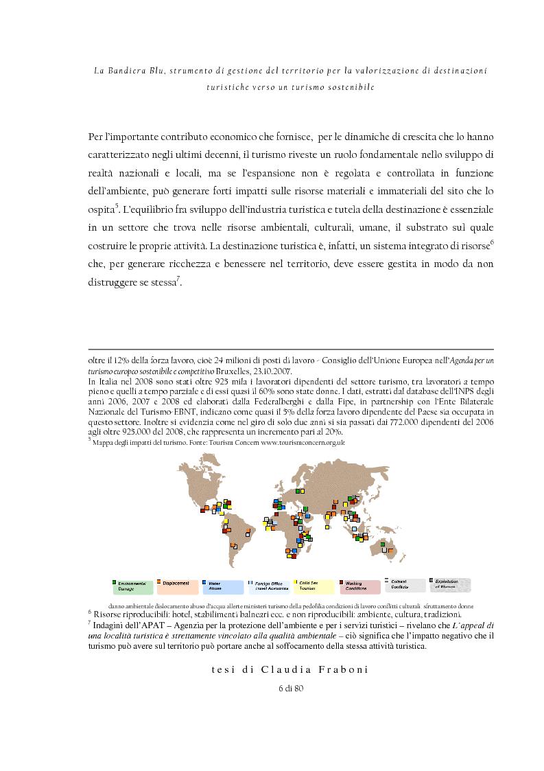 Anteprima della tesi: La Bandiera Blu, strumento di gestione del territorio per la valorizzazione di destinazioni turistiche verso un turismo sostenibile, Pagina 2
