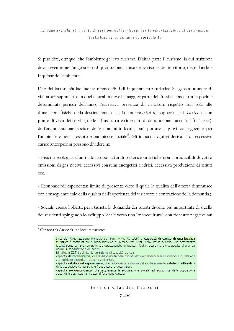 Anteprima della tesi: La Bandiera Blu, strumento di gestione del territorio per la valorizzazione di destinazioni turistiche verso un turismo sostenibile, Pagina 3