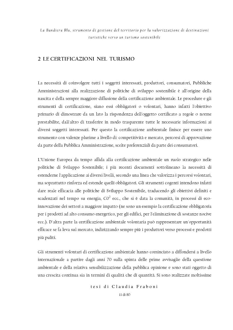 Anteprima della tesi: La Bandiera Blu, strumento di gestione del territorio per la valorizzazione di destinazioni turistiche verso un turismo sostenibile, Pagina 7