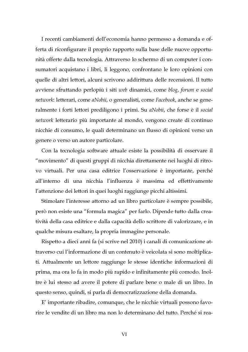 Anteprima della tesi: Il nuovo mercato editoriale: piccole case editrici, scrittori emergenti e domanda partecipativa, Pagina 2