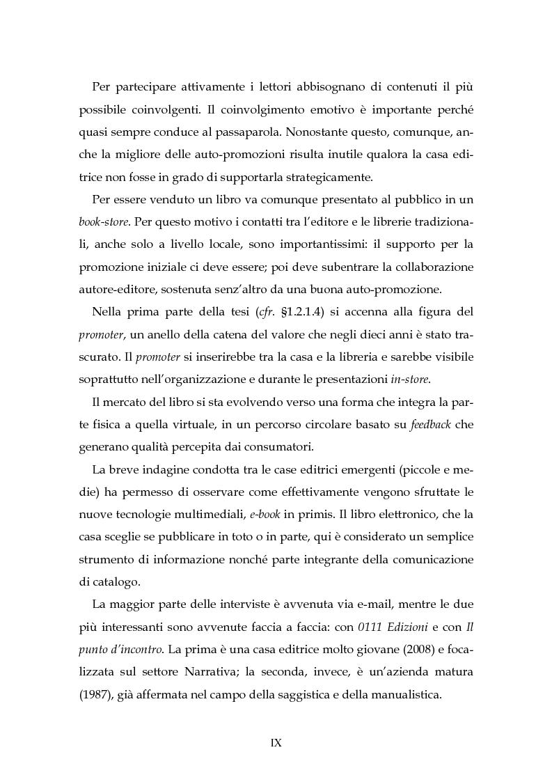 Anteprima della tesi: Il nuovo mercato editoriale: piccole case editrici, scrittori emergenti e domanda partecipativa, Pagina 5