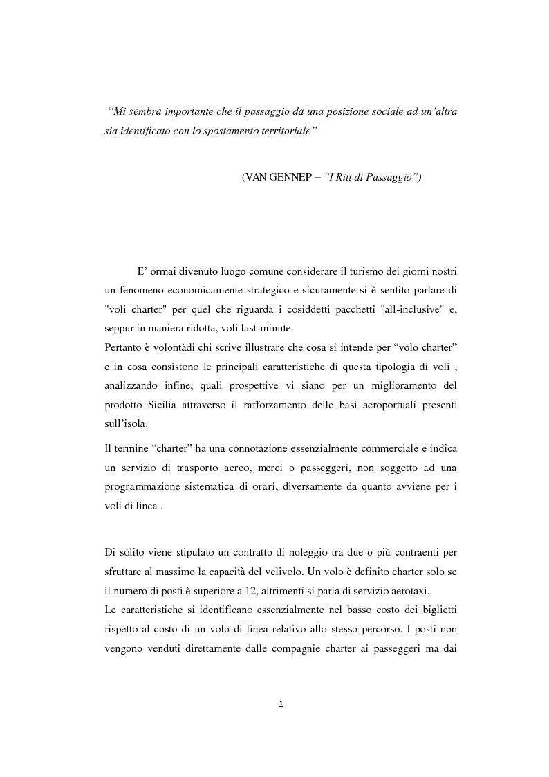 Anteprima della tesi: Lo sviluppo del prodotto charter: analisi, proposte e prospettive, Pagina 2