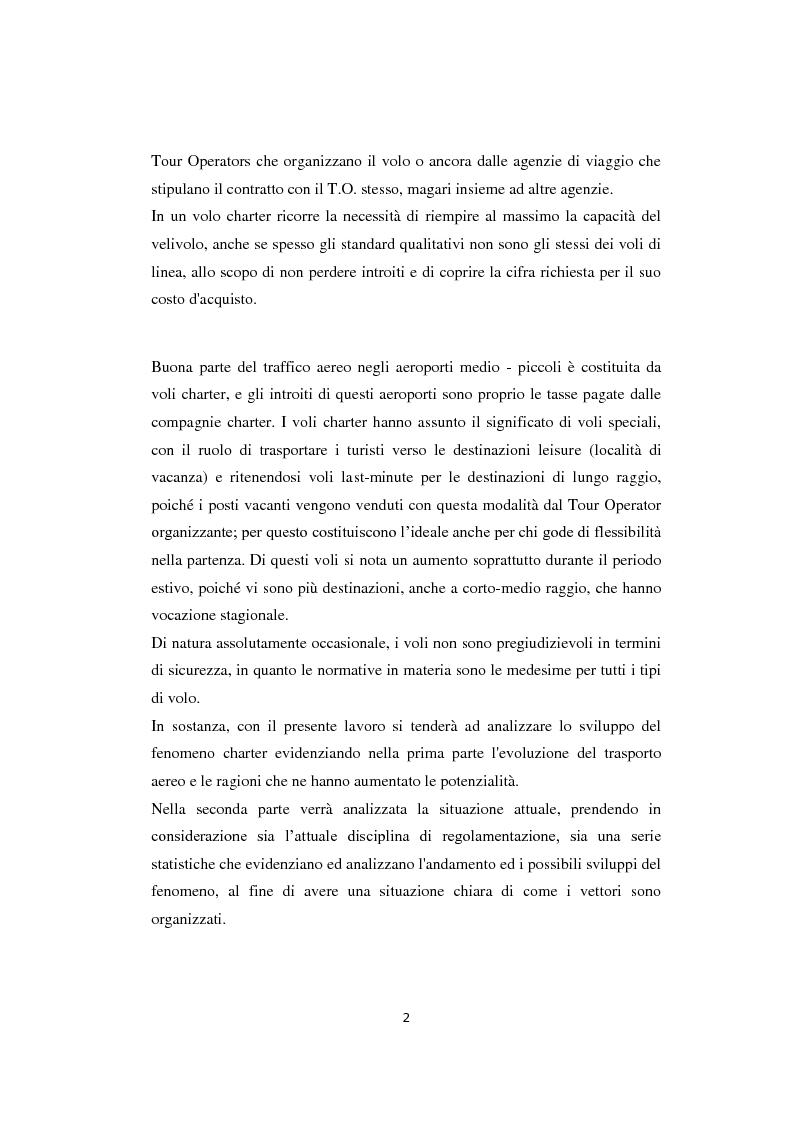 Anteprima della tesi: Lo sviluppo del prodotto charter: analisi, proposte e prospettive, Pagina 3