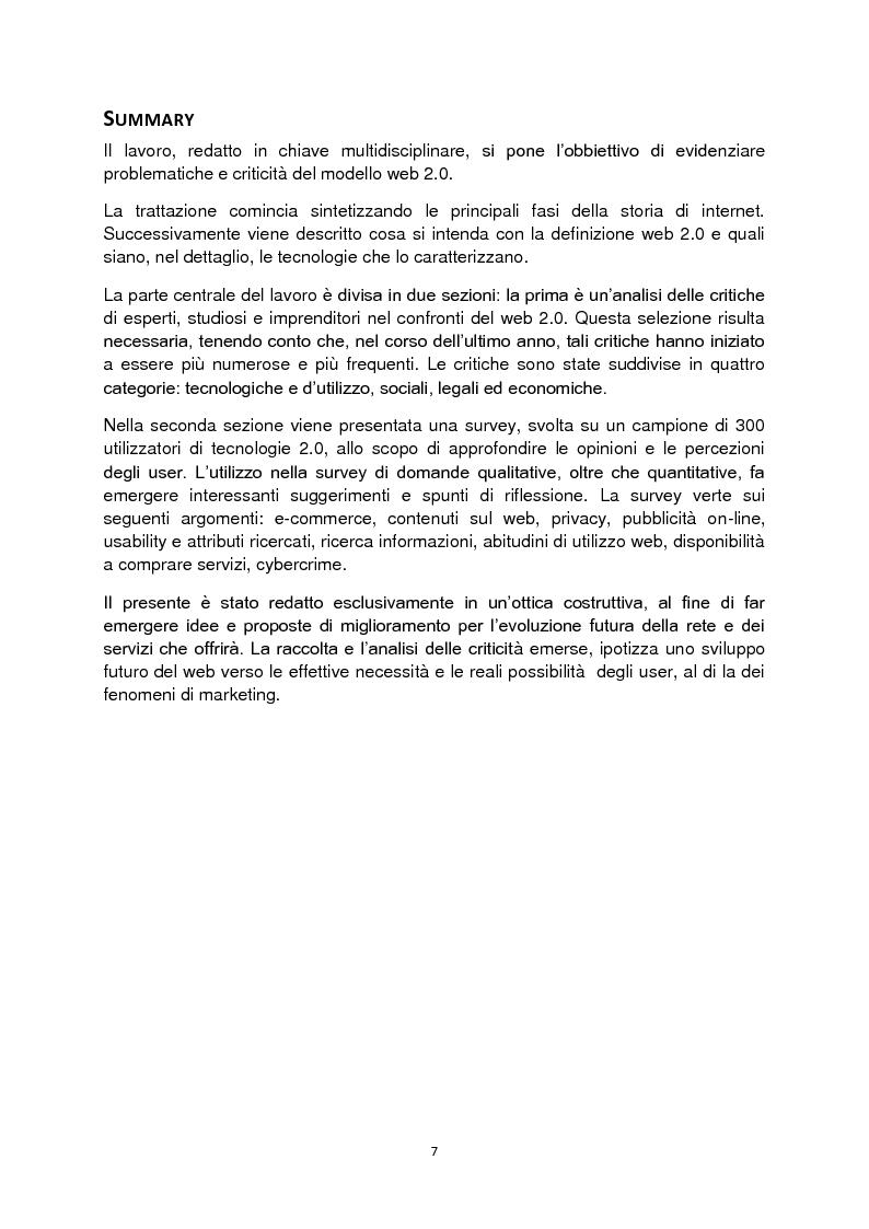 Anteprima della tesi: Web 2.0: rivoluzione o evoluzione, Pagina 1