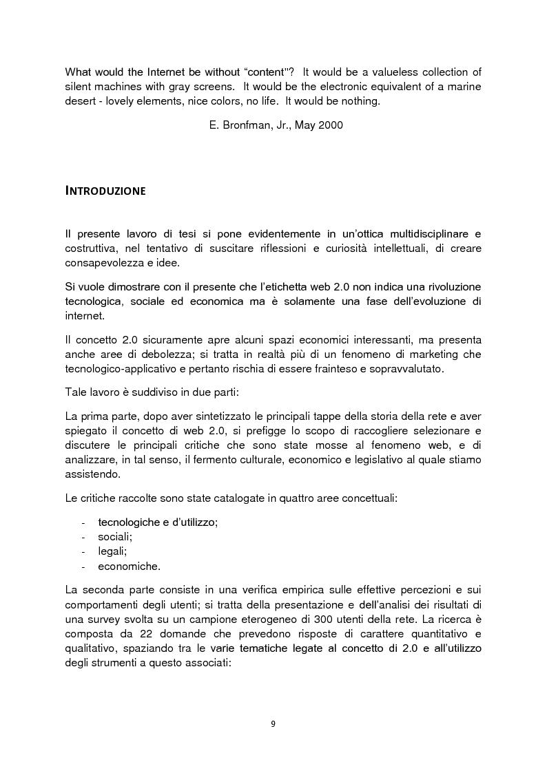 Anteprima della tesi: Web 2.0: rivoluzione o evoluzione, Pagina 3