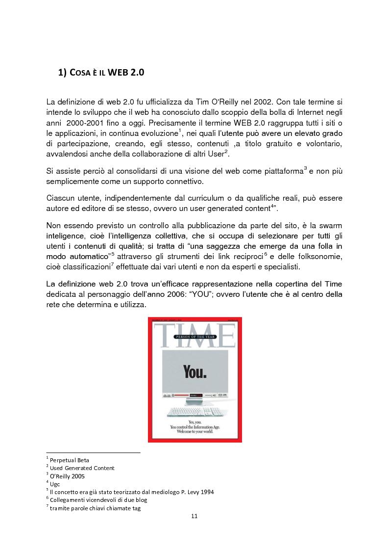Anteprima della tesi: Web 2.0: rivoluzione o evoluzione, Pagina 5