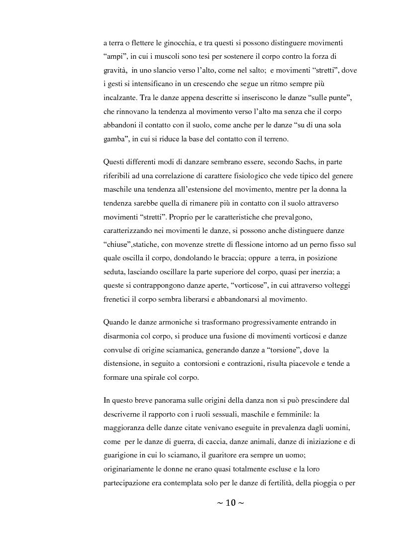 Anteprima della tesi: Come danza la psicosi: l'intervento danzaterapeutico nel trattamento delle psicosi, Pagina 10