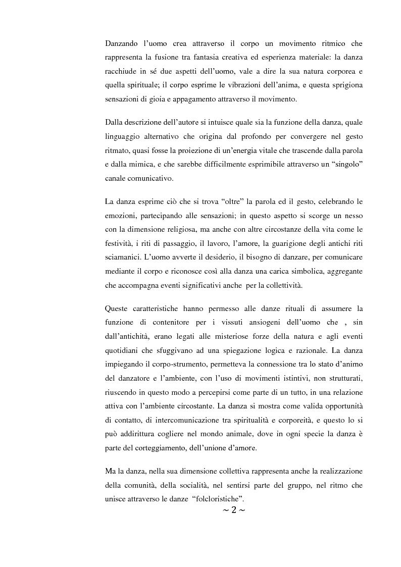 Anteprima della tesi: Come danza la psicosi: l'intervento danzaterapeutico nel trattamento delle psicosi, Pagina 2