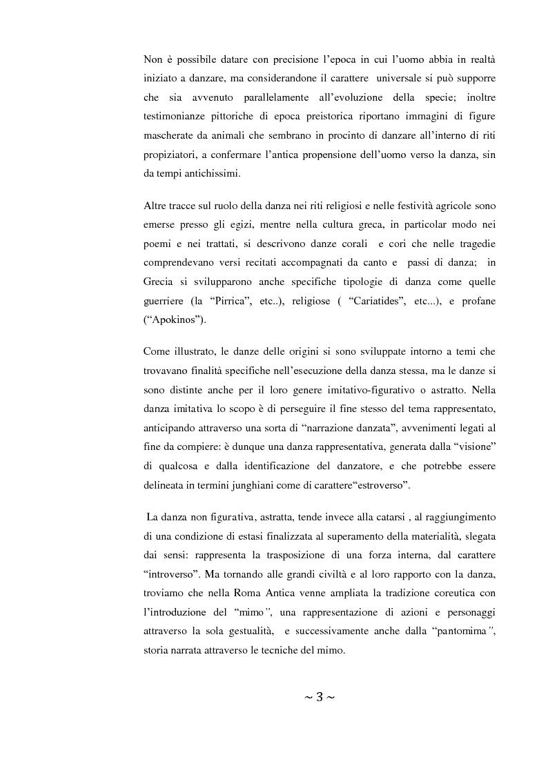 Anteprima della tesi: Come danza la psicosi: l'intervento danzaterapeutico nel trattamento delle psicosi, Pagina 3