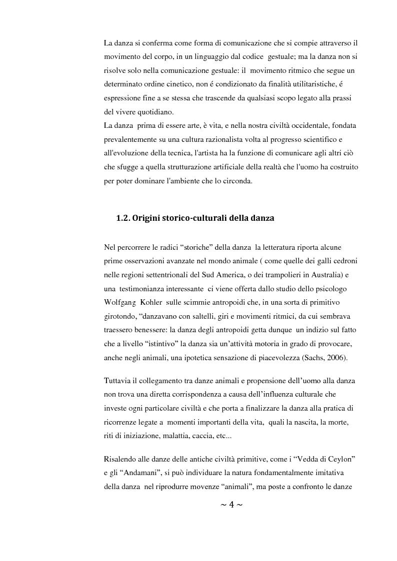 Anteprima della tesi: Come danza la psicosi: l'intervento danzaterapeutico nel trattamento delle psicosi, Pagina 4