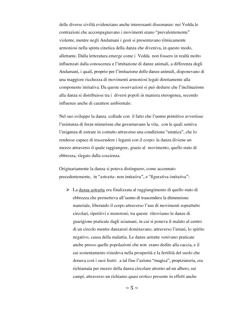 Anteprima della tesi: Come danza la psicosi: l'intervento danzaterapeutico nel trattamento delle psicosi, Pagina 5