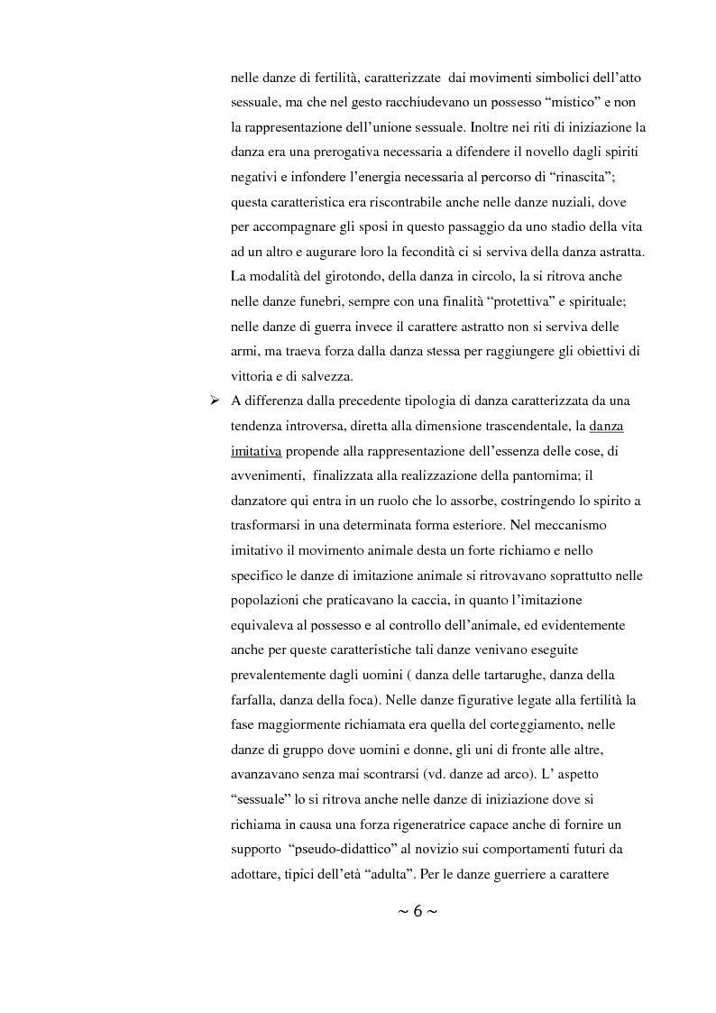Anteprima della tesi: Come danza la psicosi: l'intervento danzaterapeutico nel trattamento delle psicosi, Pagina 6