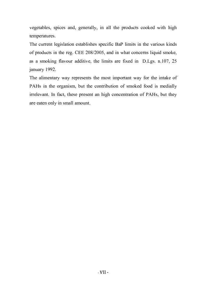 Anteprima della tesi: Idrocarburi policiclici aromatici (IPA) negli alimenti affumicati, Pagina 4