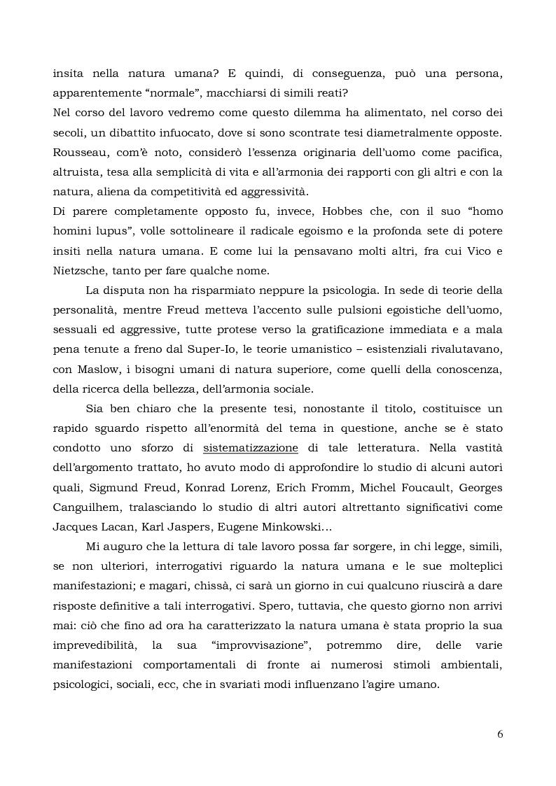 Anteprima della tesi: Il comportamento individuale tra normalità e patologia. L'agire sociale come oggetto di studio complesso., Pagina 4