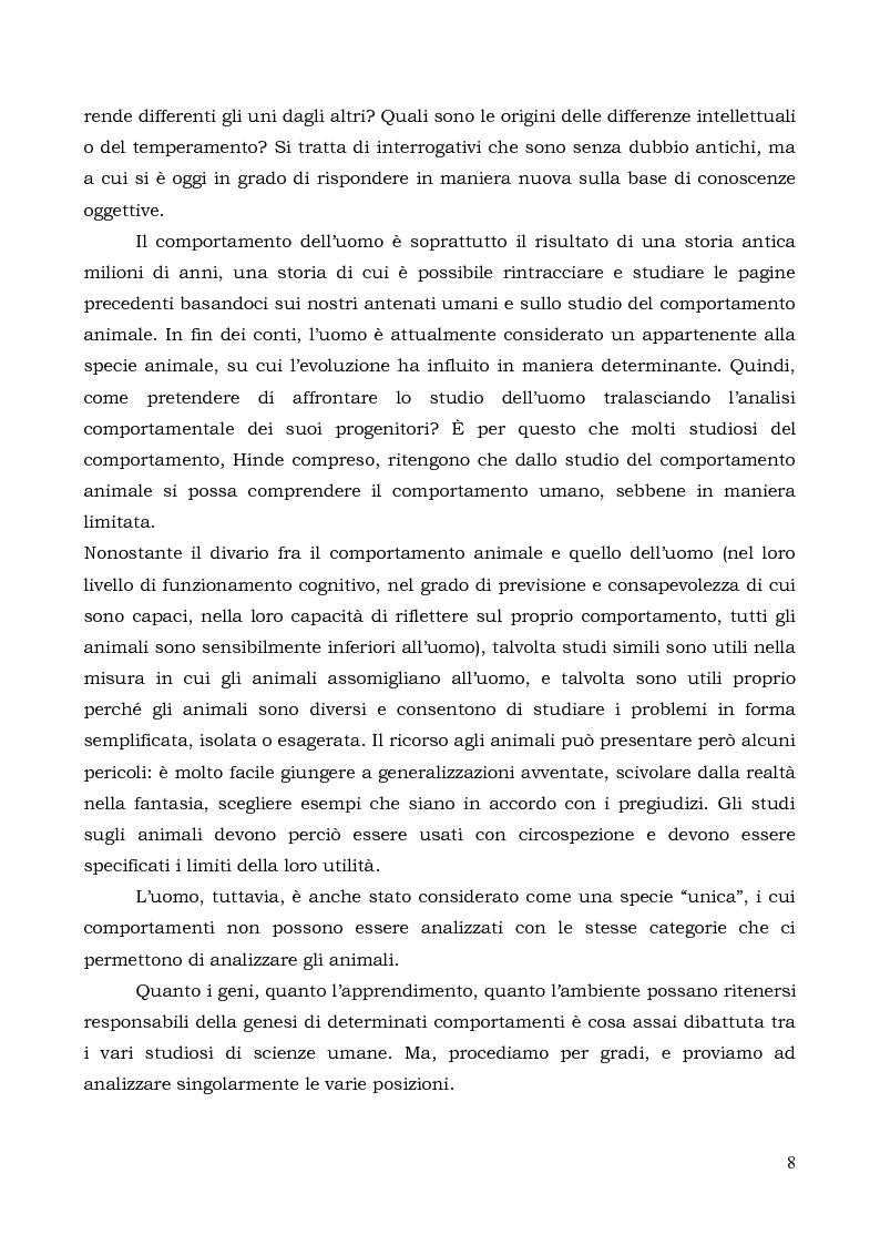 Anteprima della tesi: Il comportamento individuale tra normalità e patologia. L'agire sociale come oggetto di studio complesso., Pagina 6
