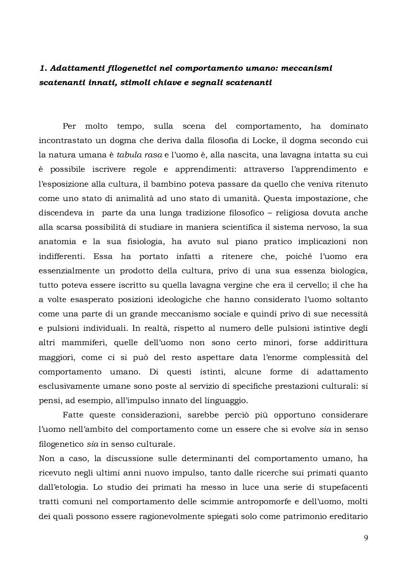 Anteprima della tesi: Il comportamento individuale tra normalità e patologia. L'agire sociale come oggetto di studio complesso., Pagina 7