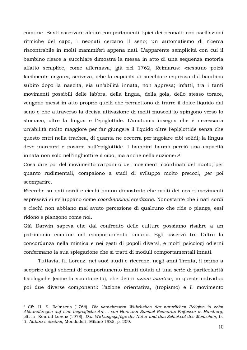 Anteprima della tesi: Il comportamento individuale tra normalità e patologia. L'agire sociale come oggetto di studio complesso., Pagina 8