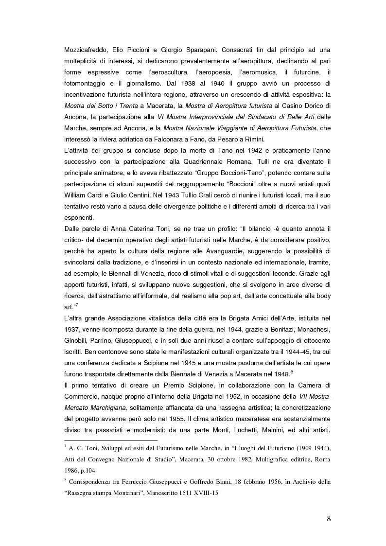 Anteprima della tesi: Il Premio Scipione tra continuità e fratture. Cinque edizioni in cinquant'anni., Pagina 8