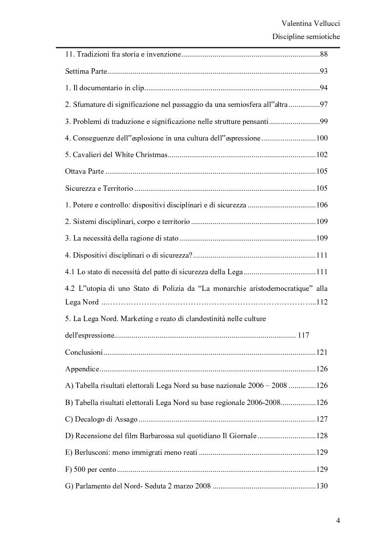 Indice della tesi: La Lega Nord fra fascio e martello - Analisi semiotica del Carroccio dalle politiche 2008 a oggi, Pagina 3