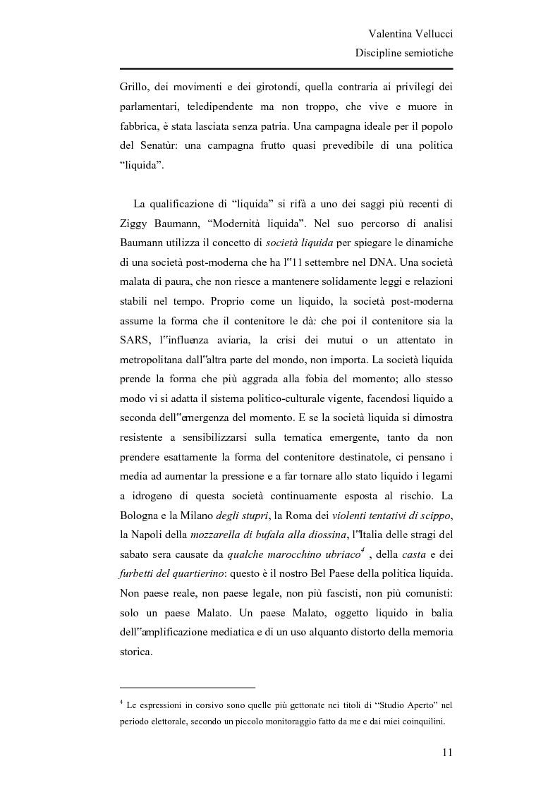 Anteprima della tesi: La Lega Nord fra fascio e martello - Analisi semiotica del Carroccio dalle politiche 2008 a oggi, Pagina 2
